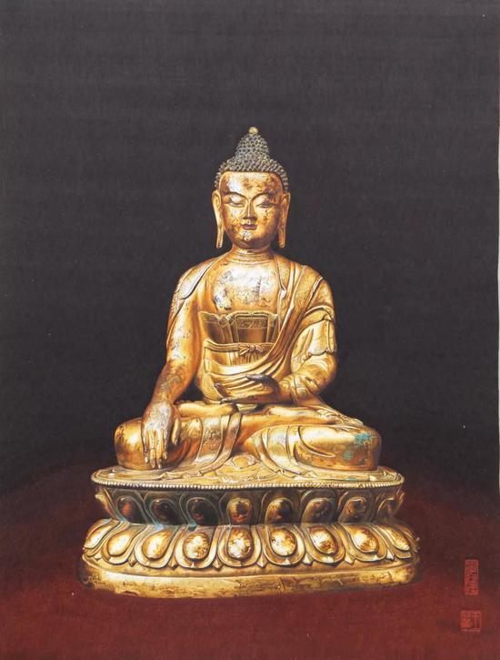 《铜鎏金释迦牟尼像》