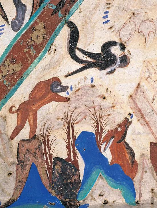 狒狒与玄鸟 莫高窟第249窟西魏