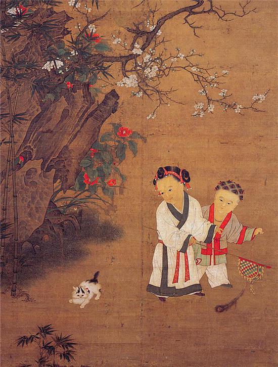 苏汉臣《冬日婴戏图》