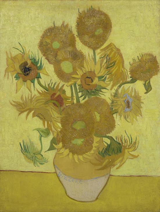 梵高,《向日葵》,1889年于阿尔勒,95 cm x 73 cm,阿姆斯特丹梵高美术馆藏