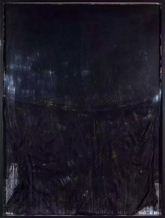 《移动山水-7号》/164x124cm / 布面油画,纱布 / 2015年