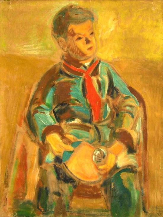 吴大羽 《乒乓男孩》 油画 50年代