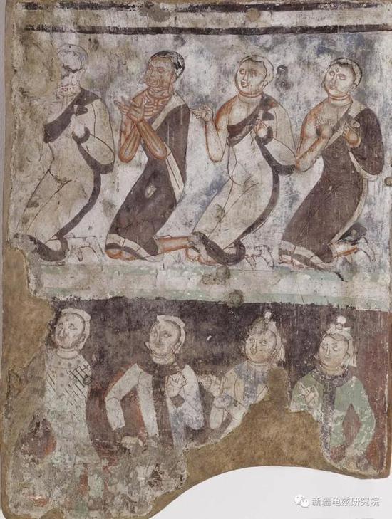 供养人 克孜尔第184窟 现藏德国柏林亚洲艺术博物馆