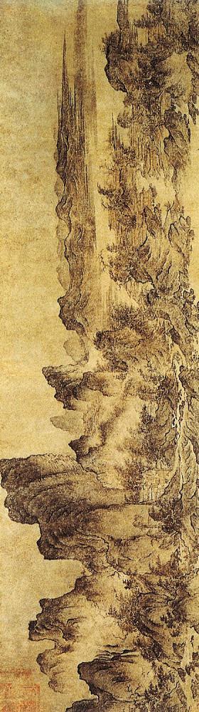宋 燕文贵 《江山楼观图》日本大阪市立美术馆藏