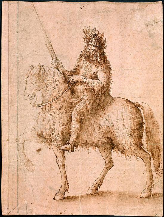 李奥纳多·达·芬奇 意大利 骑士 34×25cm 素描 15世纪