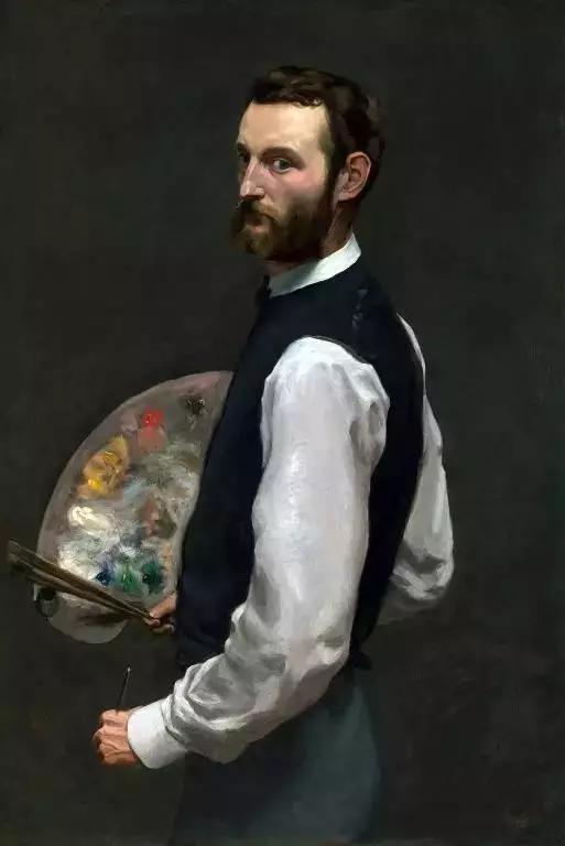 巴齐耶《自画像》,布面油画,108.9×71.1cm,1865-1866年