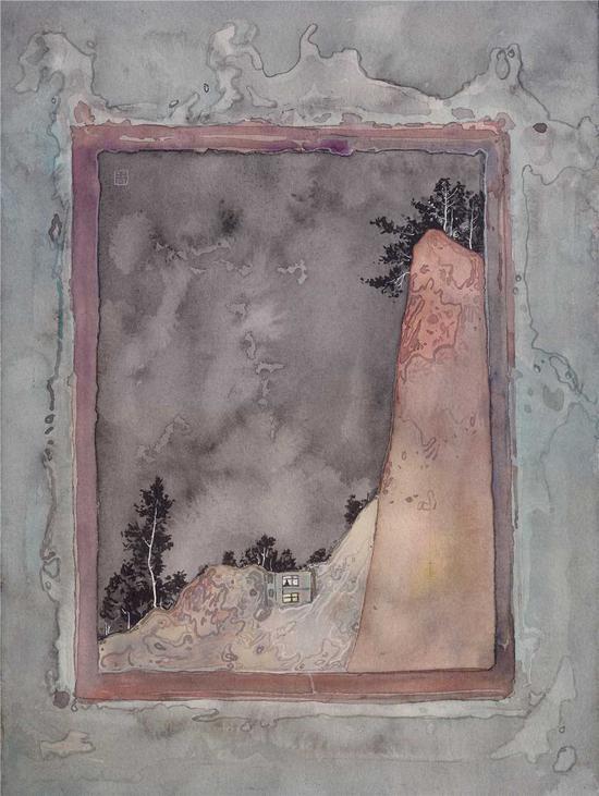 周金华作品《一个人的世界》No.15 23x31cm 纸本水彩 2016