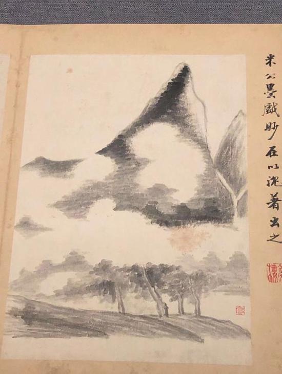 《山水书画》册(局部)