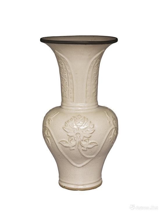 明代南方窑紫砂月白釉凤尾瓶