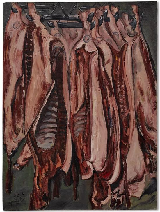 曾梵志《肉》油画画布