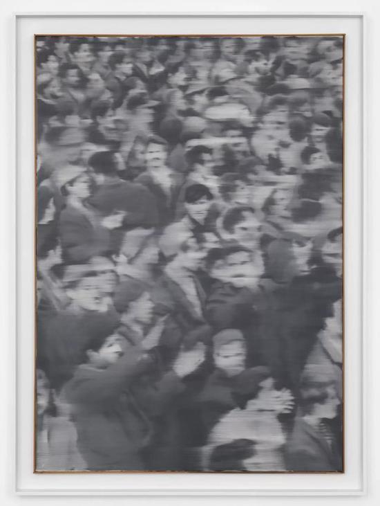 格哈德·里希特《集会》 1966 布面油画 161.2 x 116 x 2.8 cm