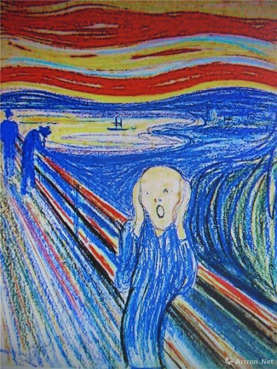 挪威画家蒙克(1863~1944年)1893年作《呐喊》(2012年纽约苏富比1.199亿美元)