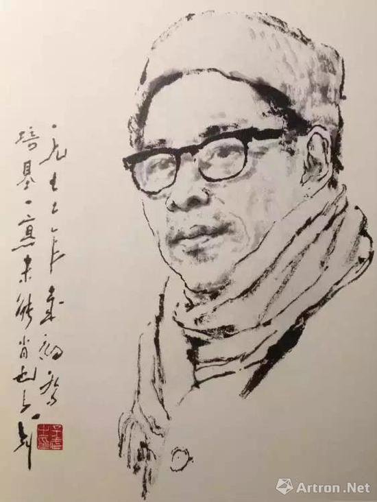 20世纪70年代王子武为吴三大老师画像