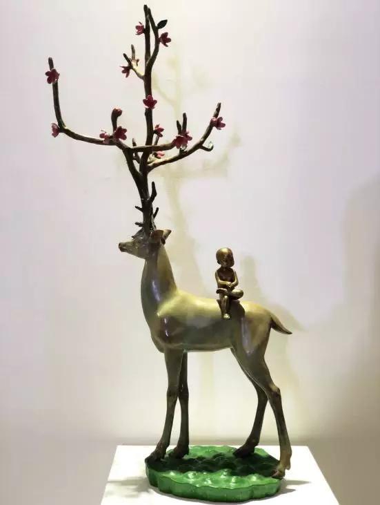 陈金庆《无住生香系列——呦呦鹿鸣》青铜