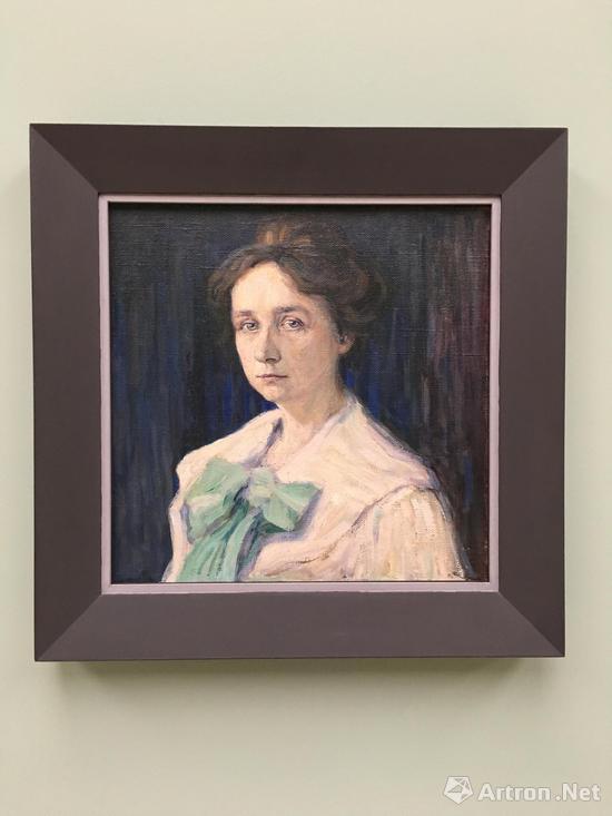 康定斯基 《加布里埃尔?穆特的肖像》 画布 油彩 1905