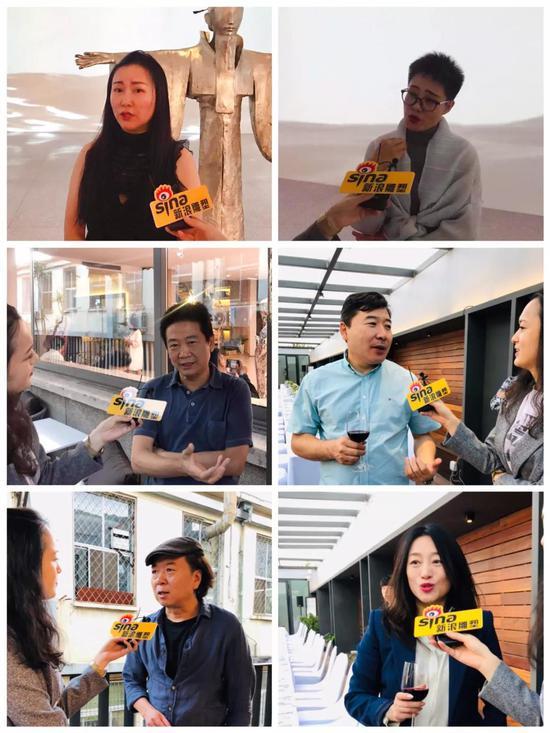 出席嘉宾接受新浪雕塑记者采访