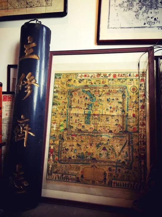 正阳书局所藏原版《北平风俗地图》