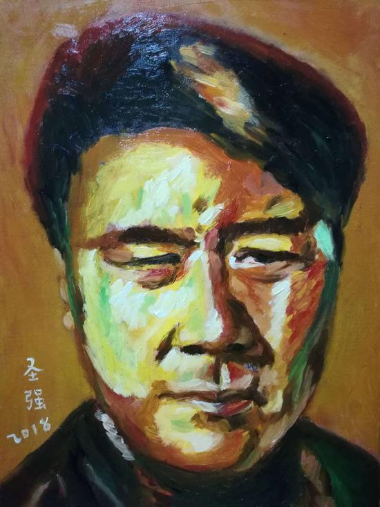 男子肖像 30x40厘米 2018年