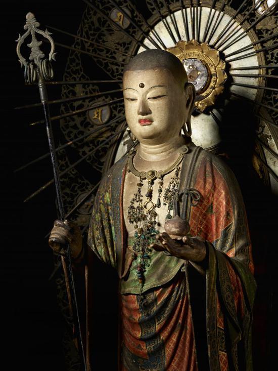 重要文化财产,地藏菩萨立像,日本镰仓时代(13世纪),快庆图片来源:藤田美术馆官网