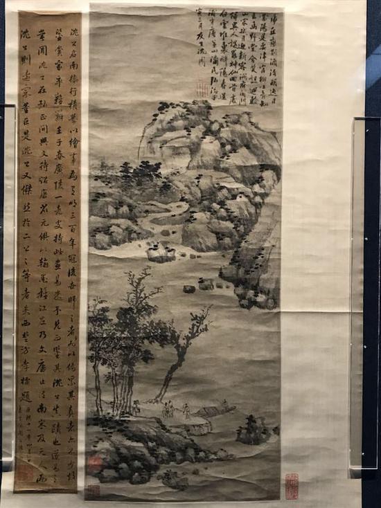 明 沈周 《虎丘恋别图》 无锡博物馆藏