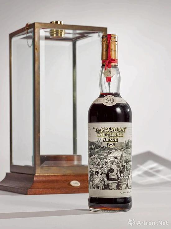 1926年Macallan 60年威士忌、Peter Blake创作酒标,以843,200美元成交