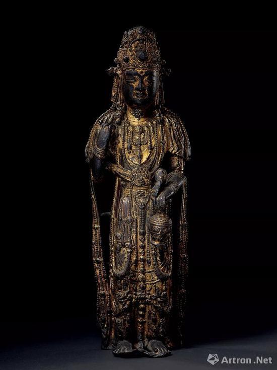 NO.28五代 铜鎏金佛像