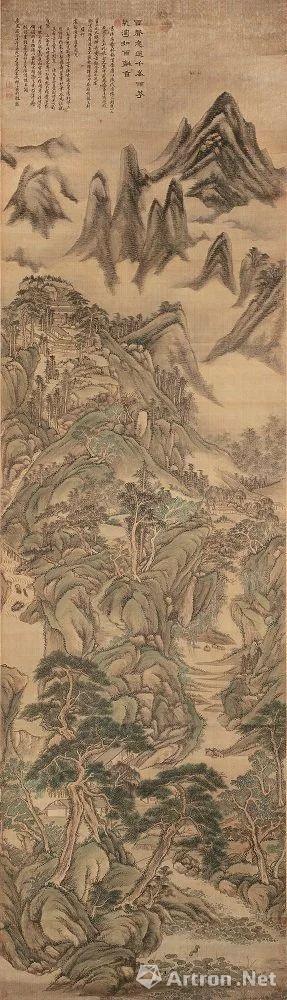 翁同龢旧藏王原祁画《杜甫诗意图》