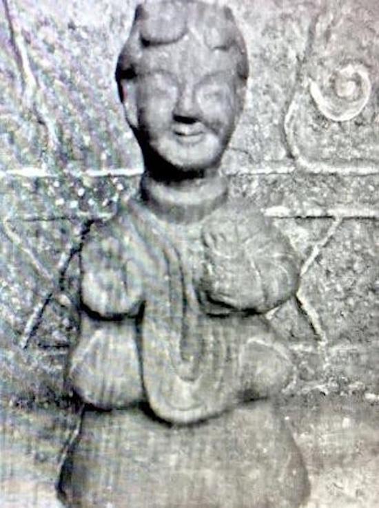 陶塑佛像 四川宜宾汉墓出土