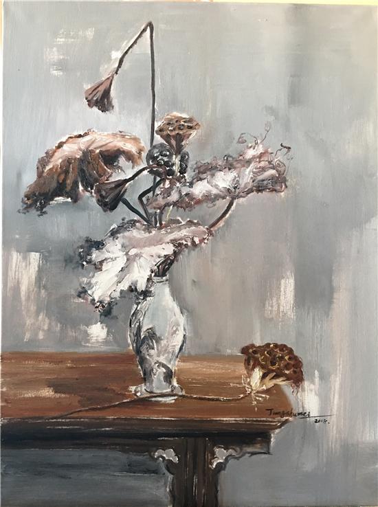 蒋淑梅《余韵》80×60cm(油画)
