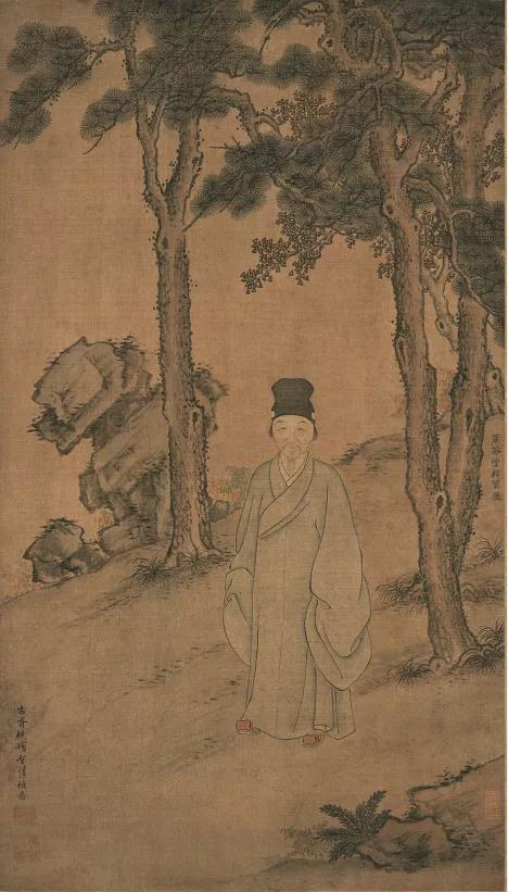 明 曾鲸、项圣谟 《董其昌小像》 上海博物馆藏