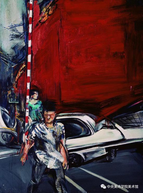孟禄丁 《红墙》 115x85cm 布面油画 1986