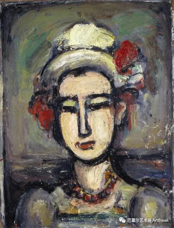 《The Italian Woman》(1938),Georges Rouault,图片由泰特美术馆提供