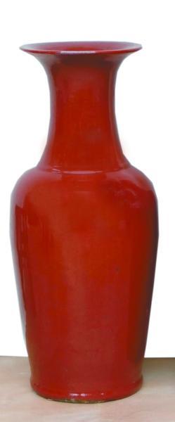 清晚期祭红釉大瓶