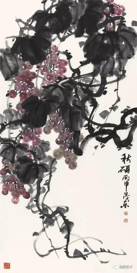 秋硕 纸本 136x68cm