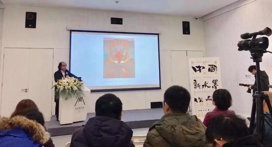 """展览第一部分""""新中国画""""策展人张晓凌致辞"""