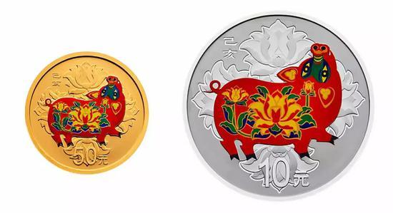 三等奖5名:猪年生肖30克彩银币一枚