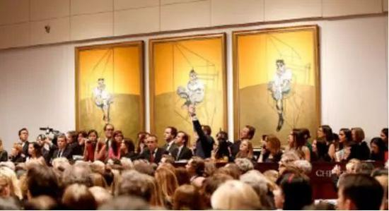 纽约佳士得拍卖行中,弗朗西斯·培根的一件作品