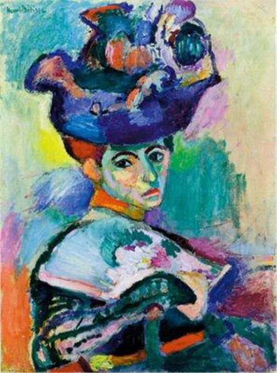 马蒂斯:《戴帽子的妇人》,旧金山现代艺术博物馆藏