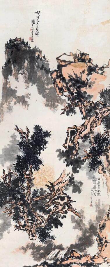 潘天寿巨幅指墨《无限风光》