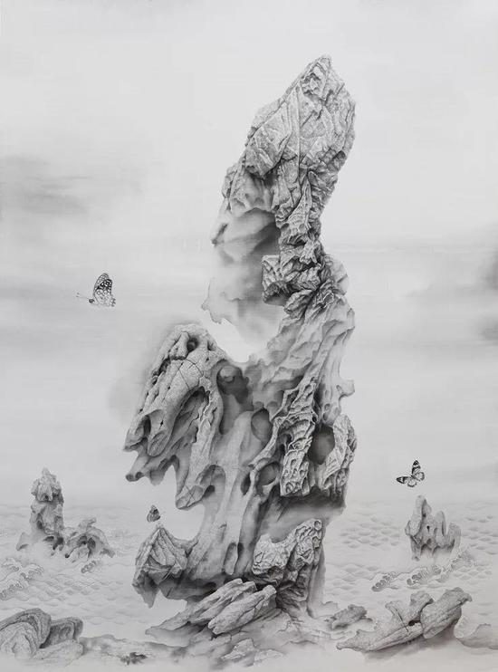 《云石》 绢本水墨 2018年 191x137cm