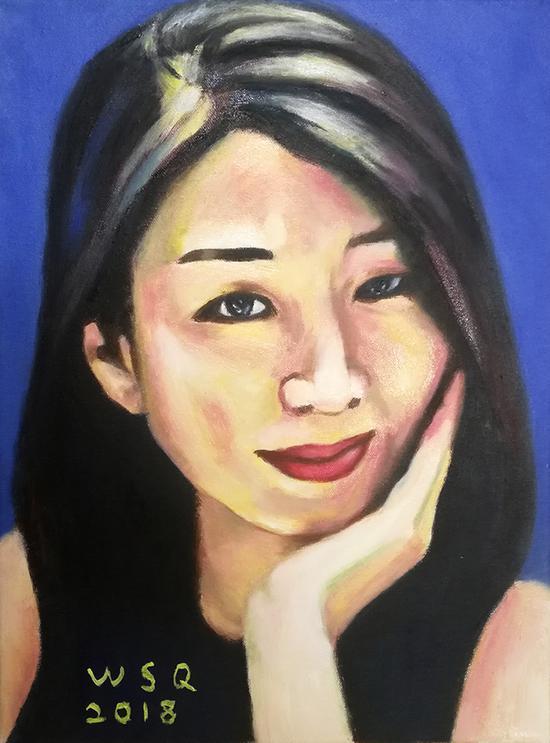 女子肖像 30x40厘米 2018年