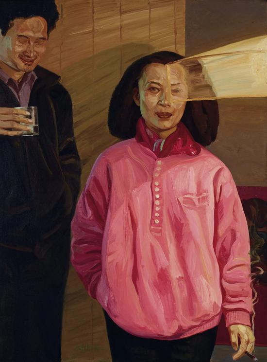 刘小东《求婚》布面、油画