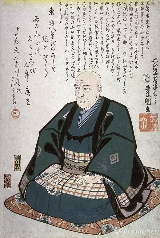 歌川广重 出身下层武士,当消防员,60岁左右剃度出家
