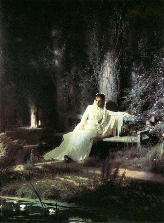 画作名称:《月夜少女》又译《月夜》