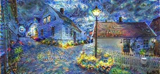 谷歌AI系统Deep Dream的画作