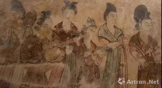 唐 永泰公主墓壁画(局部)