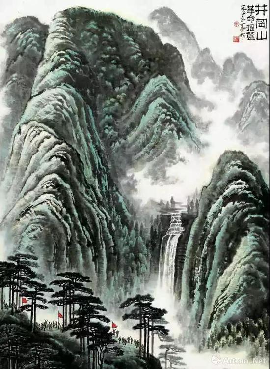 李可染1976年作 《井冈山》 镜心