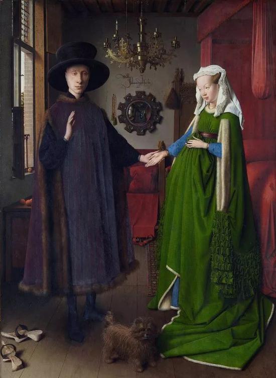 扬・凡・艾克《阿诺尔菲尼夫妇》1434年 油画 @英国国家画廊