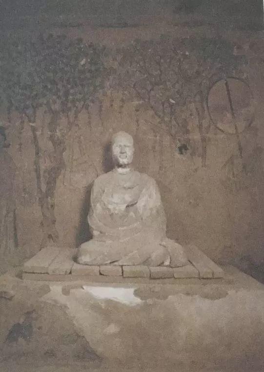 图16 敦煌17窟,高僧洪辩影堂,唐,公元九世纪