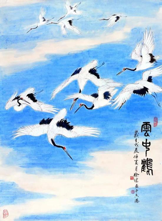 《云中飞鹤》